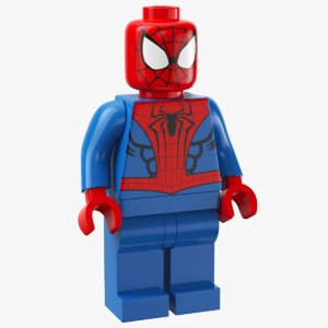 lego spider man 3D model