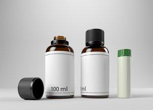 bottles medicinal 3D model