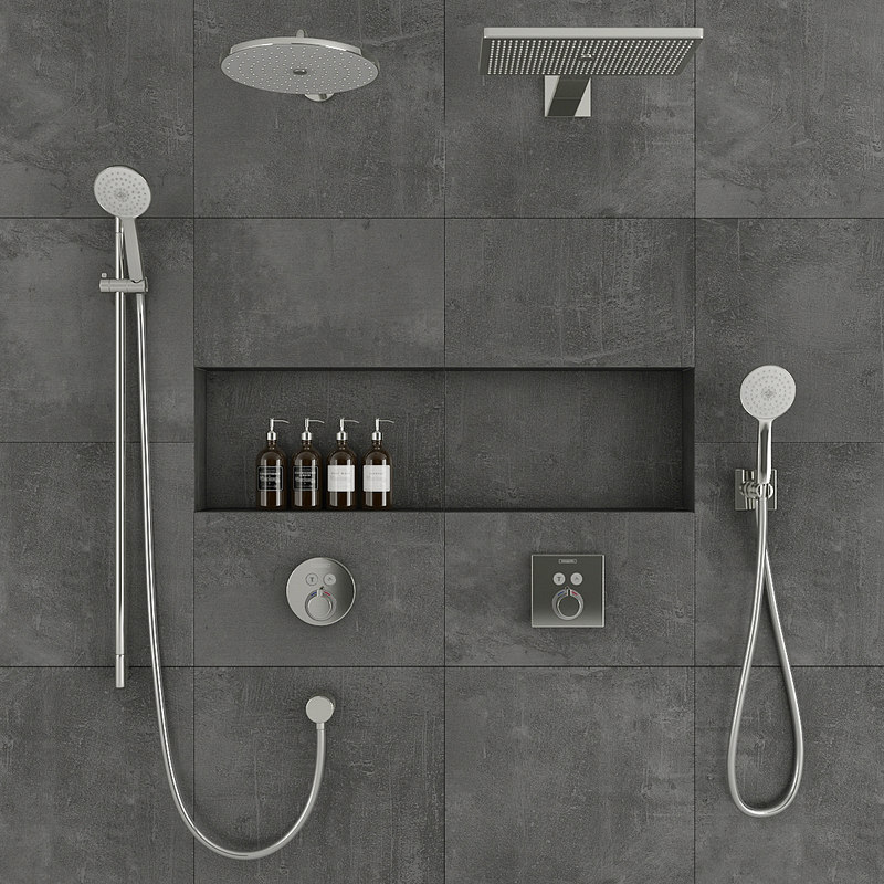 3D model hansgrohe shower