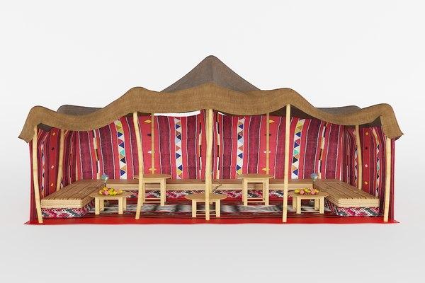 3D model arabic tent