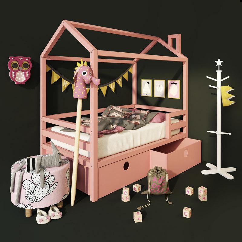 3D moon pine dream house model
