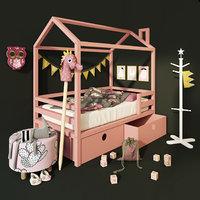 Baby Crown moon pine 160X90. Dream house