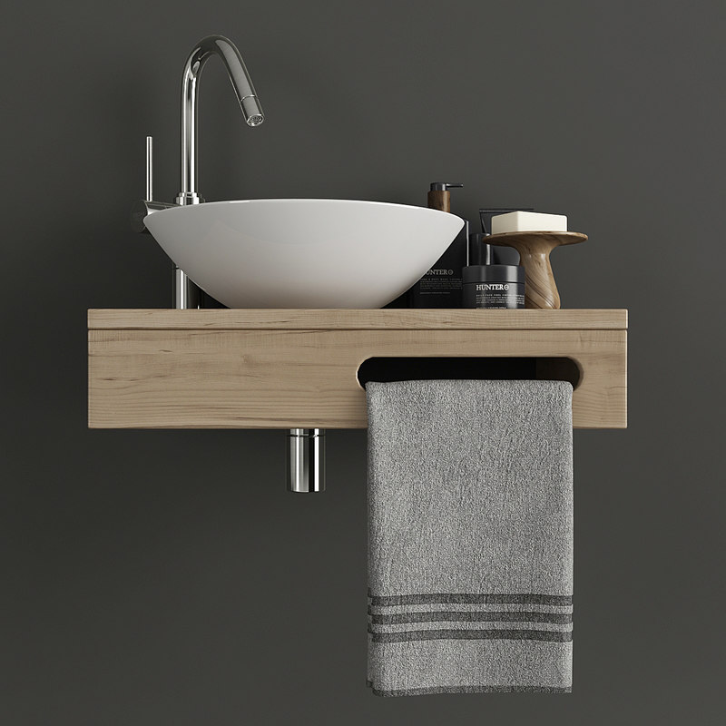 3D furniture bathroom model