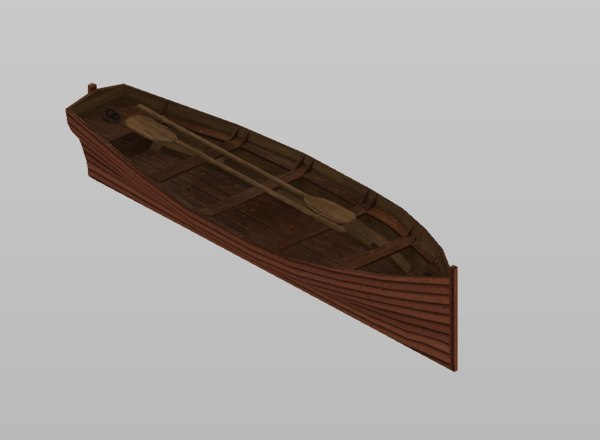 rowing boat watercraft 3D model