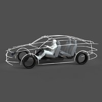 3D template car ergonomic