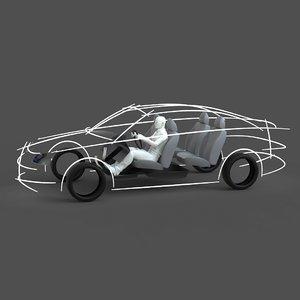 3D template car ergonomic