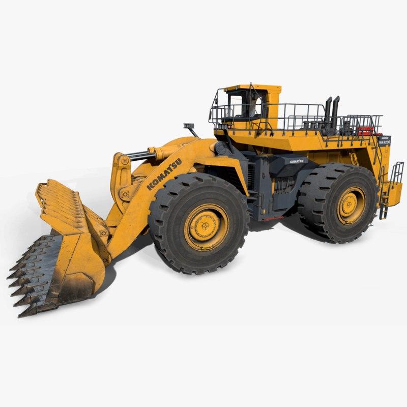 wa1200 komatsu wheel loader 3D