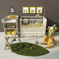 solgul cot changing table 3D