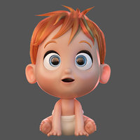 3D baby cartoon cute