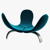 realistic velvet edra italia chair model