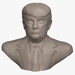 3D model bust donald trump