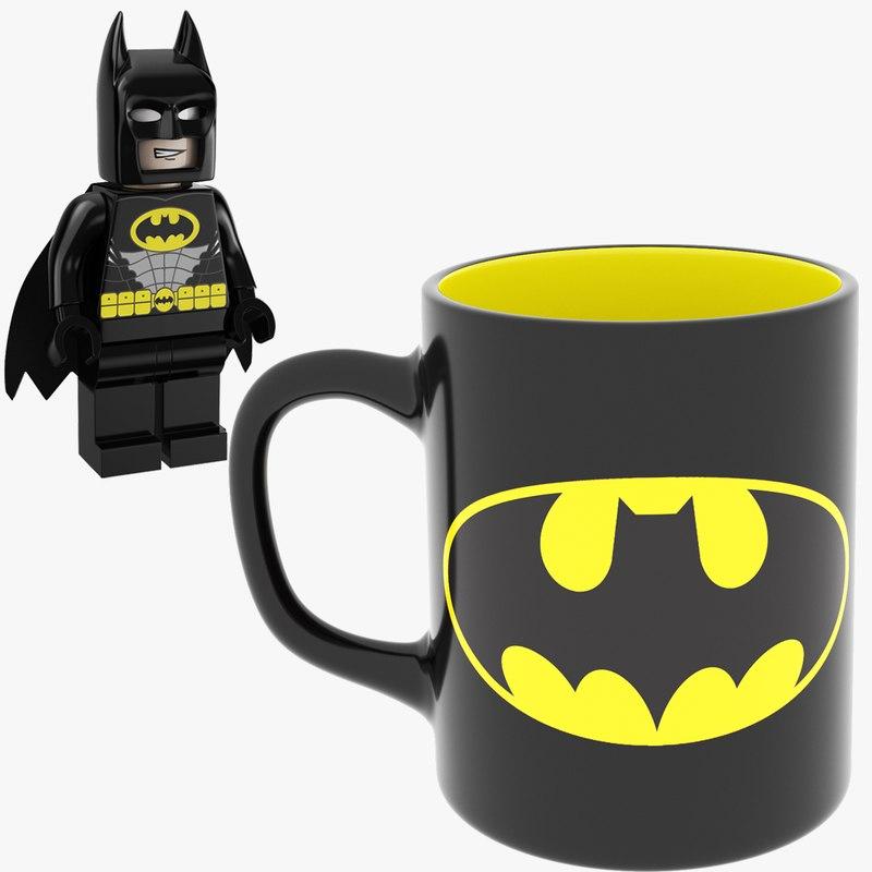 3D man mug bat lego