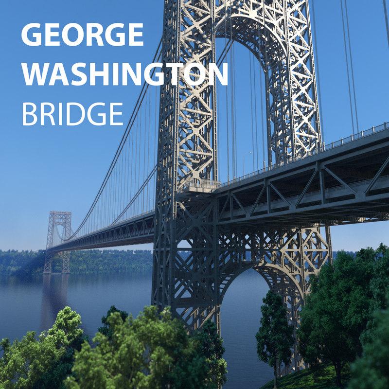 3D george washington bridge model