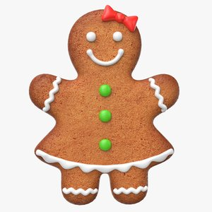 gingerbread cookie ginger 3d max