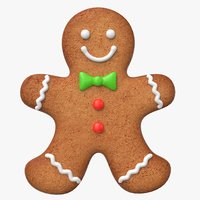 3d gingerbread cookie ginger model