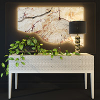 natural chic console bizzotto 3D