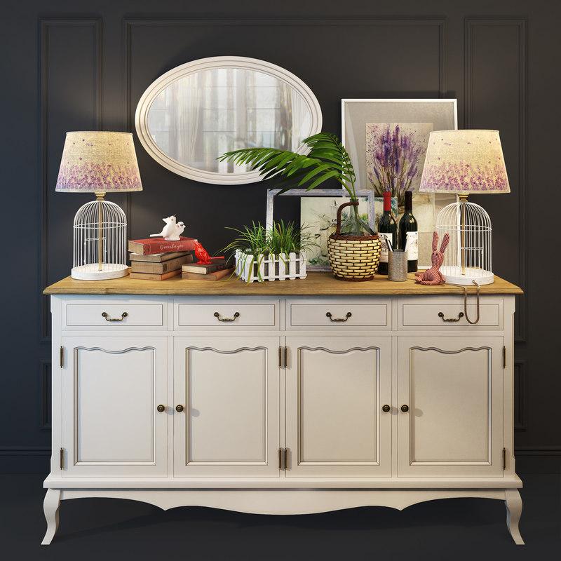chest leontina drawers doors 3D