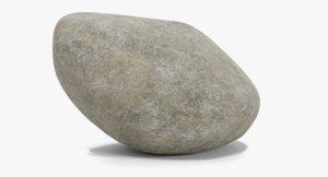 3D boulder granite model
