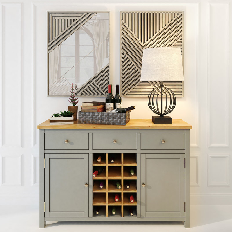 3D wine chest drawers jules