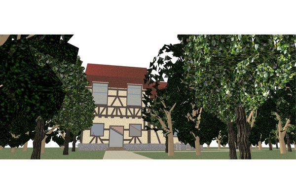 house timber 3D model