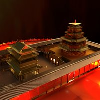 3D chinese house