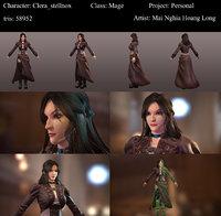 3D model mage female
