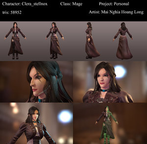 3D model mage female