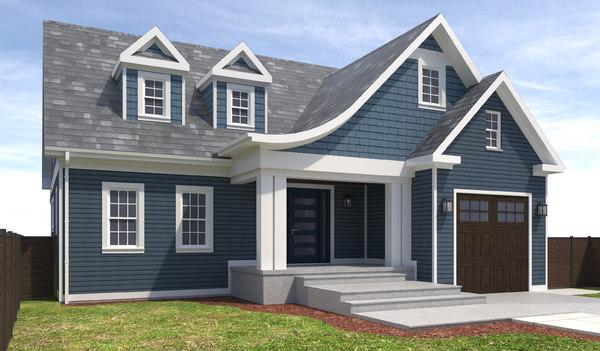 home house exterior 3D model