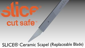 3D replaceable blade ceramic scapel