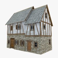 medieval house model