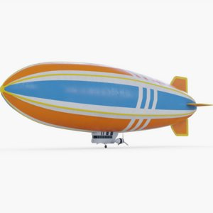 3D blimp airship model