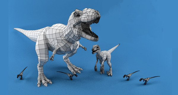 3D model dinosaur mesh