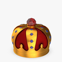 3D crown cartoon