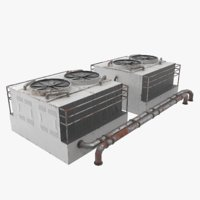 games industrial air conditioner 3D model
