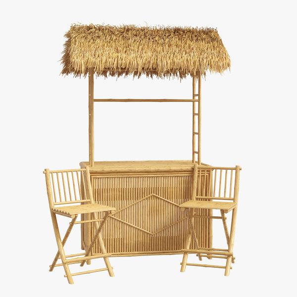 porter bamboo 3 piece 3D