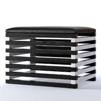 3D bench pouf ottoman model
