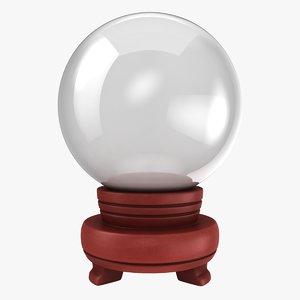3D model crystal ball