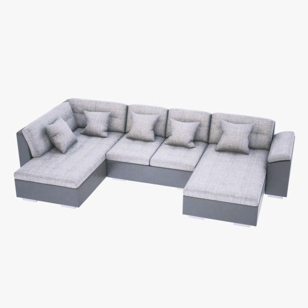 4k sofa alma 3D model