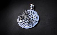 jewellery silver pendant alatyr model