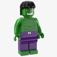 lego hulk 3D model