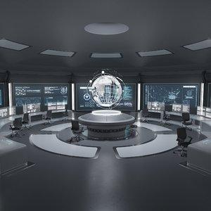 3D command room