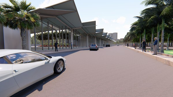 bus terminal 3D model