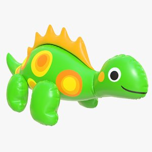 3D realistic pool toy dinosaur model