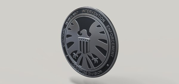 badge s h 3D model