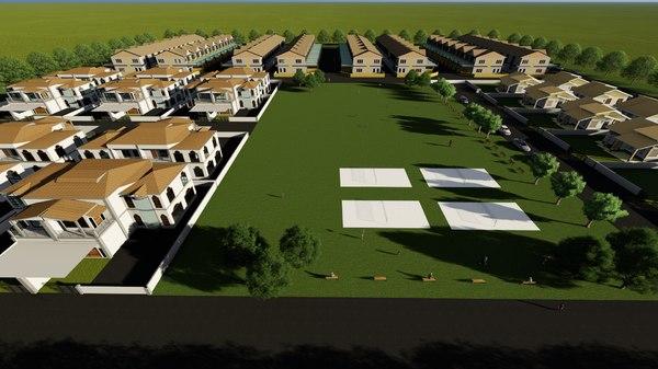 residential area design 3D model
