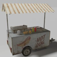 3D model cart food