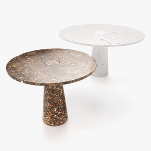 marble dining tables settings 3D