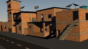 favela brasileira 3D model
