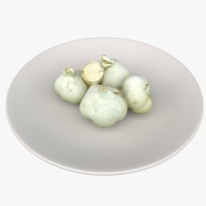 3D model garlic food vegetable