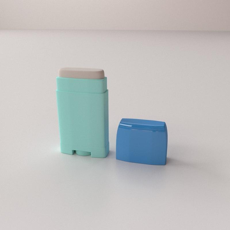 3D stick deodorant model